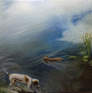 Dogs water