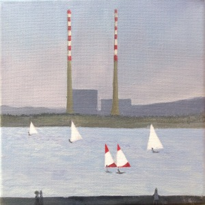 FC Heathorn | Sailboats and Poolbeg Chimneys